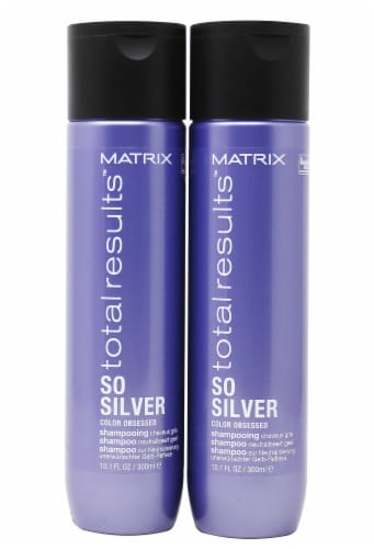Matrix Total Results So Silver Color Obsessed Shampoo 2 Count Perspective: front