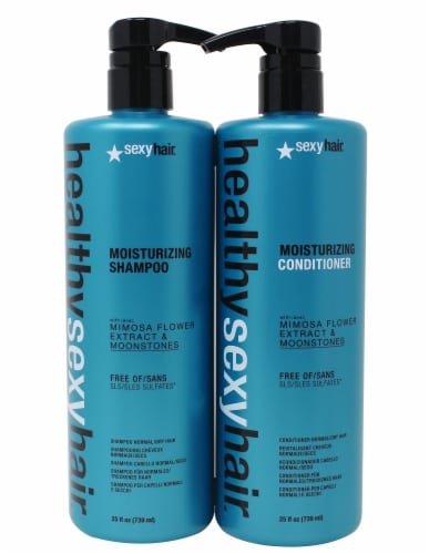 Healthy Sexy Hair Moisturizing Shampoo and Conditioner Set Perspective: front