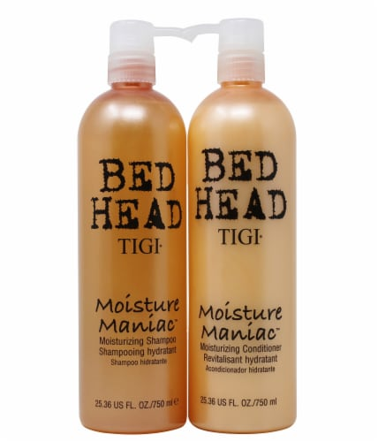 TIGI Bed Head Moisture Maniac Shampoo & Conditioner Twin Pack Perspective: front