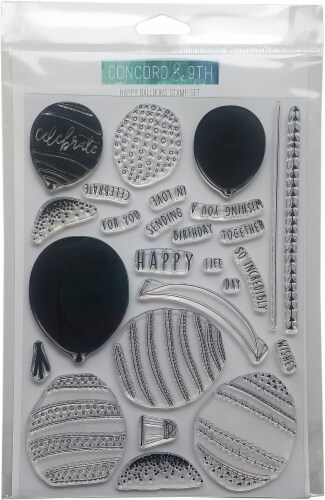 Concord & 9th Clear Stamps 6 X8 -Happy Balloons Perspective: front