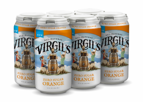 Virgil's Zero Sugar Orange Soda Perspective: front