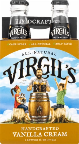 Virgil's Micro-Brewed Cream Soda Perspective: front