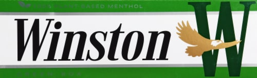 Winston Plant-Based Menthol Green Box Cigarettes Perspective: front