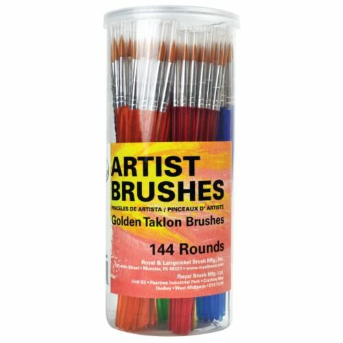 Royal Langnickel Artist Golden Taklon Round Brushes Perspective: front