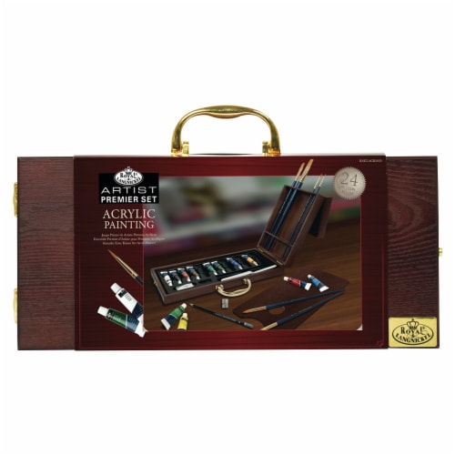 Royal Langnickel Premier Acrylic Paint Set Perspective: front