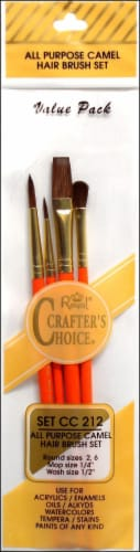 Royal Crafter's Choice Camel Paint Brush Set Perspective: front