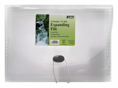 Better Office Products 13 Pocket Expanding File - Clear Perspective: front