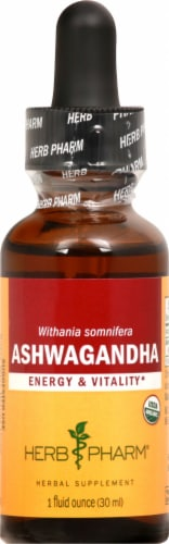 Herb Pharm Ashwagandha Energy and Vitality Herbal Supplement Perspective: front