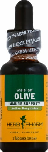 Herb Pharm Olive Leaf Herbal Supplement Perspective: front