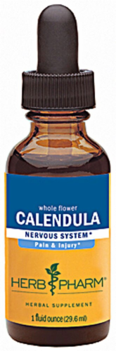 Herb Pharm Calendula Nervous System Herbal Supplement Perspective: front