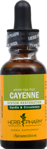 Herb Pharm Cayenne Herbal Supplement Perspective: front