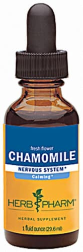 Herb Pharm Chamomile Nervous System Herbal Supplement Perspective: front