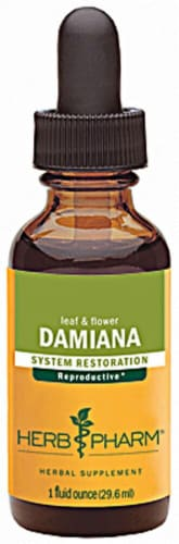 Herb Pharm Damiana System Restoration Herbal Supplement Perspective: front