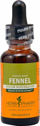 Herb Pharm Mature Seed Fennel System Restoration Herbal Supplement Perspective: front