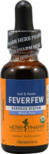 Herb Pharm Organic Feverfew Nervous System Herbal Supplement Perspective: front