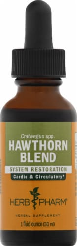 Herb Pharm Hawthorn Blend Herbal Supplement Perspective: front