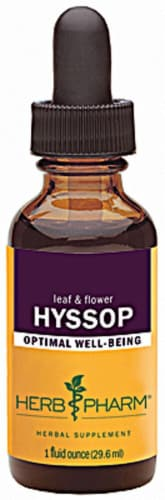 Herb Pharm Hyssop Optimal Well-Being Herbal Supplement Perspective: front