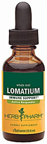 Herb Pharm Lomatium Immune Support Herbal Supplement Perspective: front