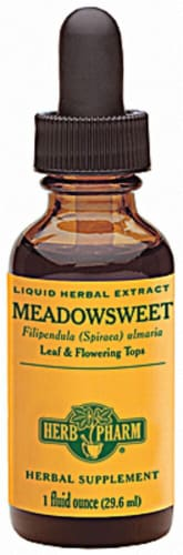 Herb Pharm  Meadowsweet Liquid Herbal Extract Perspective: front