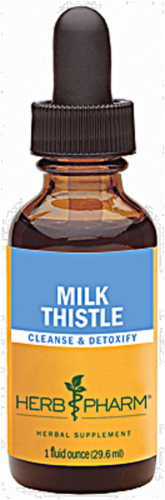 Herb Pharm Milk Thistle Herbal Supplement Perspective: front