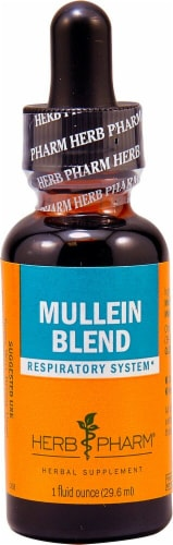 Herb Pharm Mullein Blend Respriatory System Herbal Supplement Perspective: front