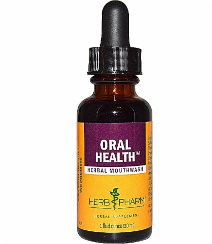 Herb Pharm Oral Health™ Herbal Mouthwash Perspective: front