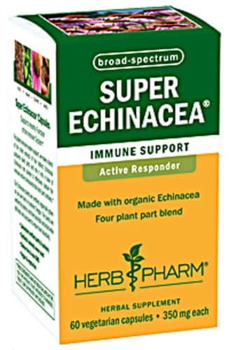 Herb Pharm Super Echinacea Immune Support Capsules 350mg Perspective: front