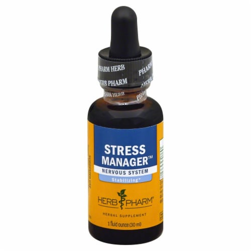 Herb Pharm Stress Manager Stabilizing Herbal Supplement Perspective: front