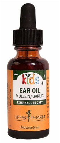 Herb Pharm Kids Mullein-Garlic Ear Oil Perspective: front