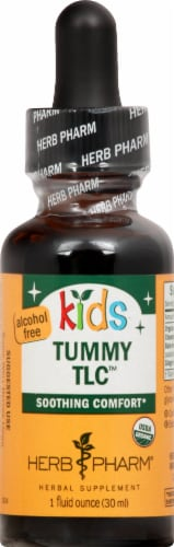 Herb Pharm Kids Tummy TLC Organic Herbal Supplement Perspective: front