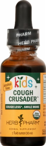 Herb Pharm Kids Cough Crusader Herbal Supplement Perspective: front