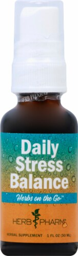 Herb Pharm Herbs on the Go Daily Stress Balance Herbal Supplement Perspective: front