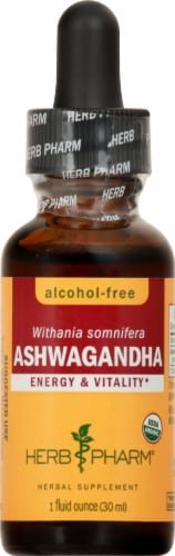 Herb Pharm Ashwagandha Glycerite Herbal Extract Perspective: front
