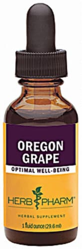 Herb Pharm Oregon Grape Optimal Well-Being Herbal Supplement Perspective: front