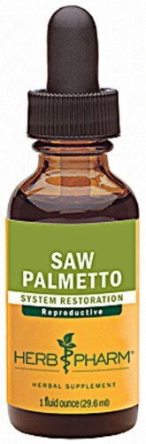 Herb Pharm Saw Palmetto System Restoration Herbal Supplement Perspective: front