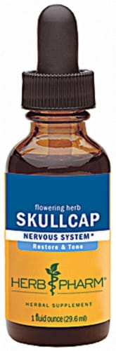 Herb Pharm Skullcap Nervous System Herbal Supplement Perspective: front