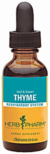 Herb Pharm Thyme Respiratory System Herbal Supplement Perspective: front