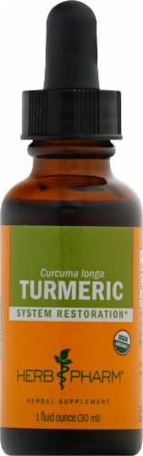 Herb Pharm Turmeric Herbal Supplement Perspective: front
