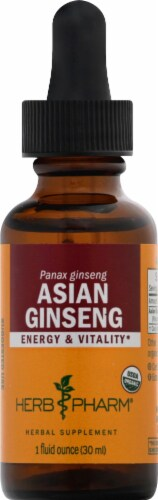 Herb Pharm Asian Ginseng Herbal Supplement Perspective: front