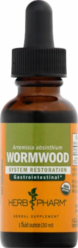 Herb Pharm Wormwood Herbal Supplement Perspective: front