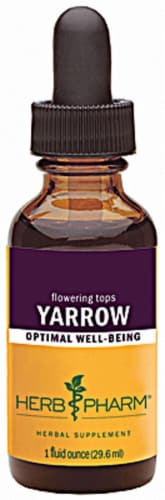 Herb Pharm Yarrow Optimal Well-Being Herbal Supplement Perspective: front