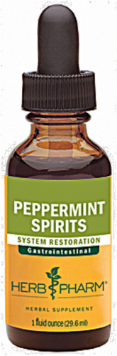 Herb Pharm Peppermint Spirits Gastrointestinal System Restoration Herbal Supplement Perspective: front