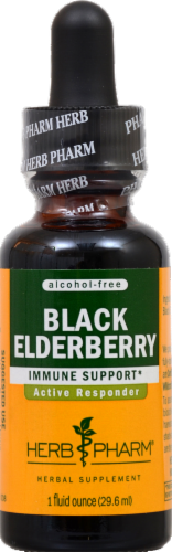 Herb Pharm Black Elderberry Herbal Supplement Perspective: front