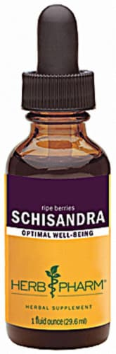 Herb Pharm Schisandra Optimal Well Being Herbal Supplement Perspective: front