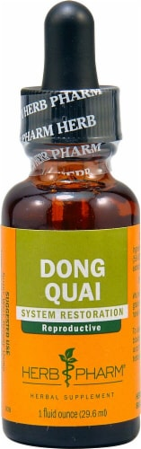 Herb Pharm Dong Quai System Restoration Herbal Supplement Perspective: front