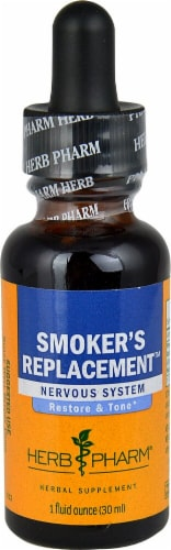 Herb Pharm  Smoker's Replacement™ Liquid Herbal Supplement Perspective: front