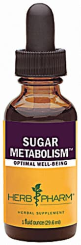 Herb Pharm Sugar Metabolism Optimal Well-Being Herbal Supplement Perspective: front