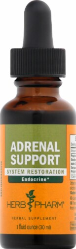 Herb Pharm Adrenal Support Herbal Supplement Perspective: front
