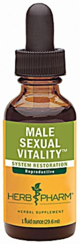 Herb Pharm Male Sexual Vitality™ System Restoration Herbal Supplement Perspective: front