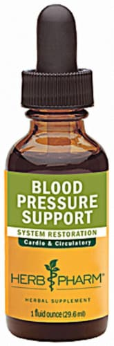 Herb Pharm Blood Pressure Support System Restoration Herbal Supplement Perspective: front
